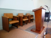 Pulpit and chairs