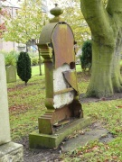 unusual metal gravestone