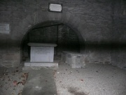old undercroft with burials