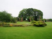 View across the cloister of Lindores Abbey. Image: Kirsty Owen (June 2007)  Image ID: 1438_02.JPG