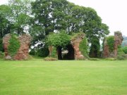 Chapter house and remains of the eastern end of the Abbey church at Lindores. Image: Kirsty Owen (June 2007)  Image ID: 1438_03.JPG