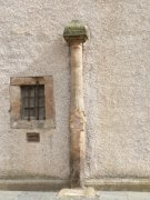 Cross shaft on the west elevation of Pittenweem Parish Church. Image: Kirsty Owen (October 2007)  Image ID: s1454_07.JPG