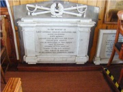 One of the memorials in the church