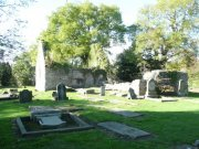 View of eastern end of the church and the southern burial aisle.  Image: Ewan Malecki (October 2007)  Image ID: 1641_60.JPG