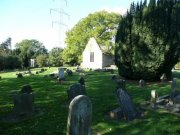 View of the churchyard from the southeast.  Image: Ewan Malecki (October 2007)  Image ID: 1641_02.JPG