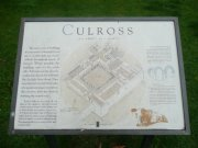 Historic Scotland information board at Culross Abbey. Image: Amanda Gow (August 2007)  Image ID: 1642_1.JPG