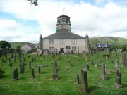 View of the graveyard and church, taken from the south. Image: Amanda Gow (May 2007)  Image ID: 2183_25.JPG