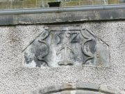 Datestone above western door. Image: Amanda Gow  Image ID: 2183_41.JPG