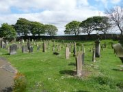 View of the graveyard from the north west. Image: Amanda Gow (May 2007)  Image ID: 2183_38.JPG