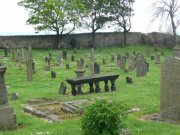 View of the graveyard from the north east. Image: Amanda Gow (May 2007)  Image ID: 2183_45.JPG