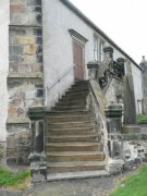 Sailors' Stair on south east corner of the church. Image: Amanda Gow (May 2007)  Image ID: 2183_34.JPG