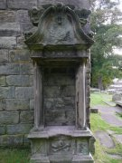 Monument to Robert Meikle on west elevation of southwest extension to Dunfermline Aisle. Image: Ewan Malecki (September 2007).  Image ID: 2227_13.JPG