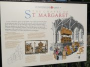 Information board about St. Margaret's Chapel from south. Image: Amanda Gow (November 2007)  Image ID: 4678_3.JPG