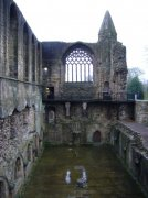 Interior shot of remains of refectory from east. Image: Sarah Kettles (November 2007)  Image ID: 2260_29.JPG