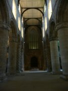 Nave of the abbey church, taken from the west. Image: Amanda Gow (November 2007)  Image ID: 2260_129.JPG