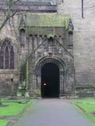 Entrance porch into abbey church (northern elevation) from north. Image: Amanda Gow (November 2007)  Image ID: 2260_79.JPG