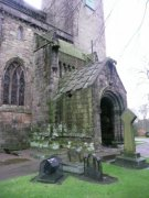 View of porch leading into abbey church from north east. Image: Amanda Gow (November 2007)  Image ID: 2260_207.JPG