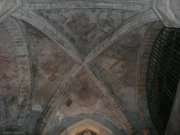 Painted ceiling detail in east end, north aisle, abbey church. Image: Amanda Gow (November 2007)  Image ID: 2260_162.JPG