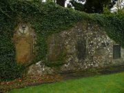 Section of boundary wall at north east of graveyard. Image: Jennifer McDonald (December 2007).  Image ID: s2260_166.JPG