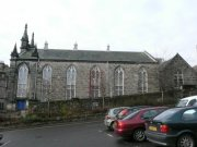 Eastern elevation, with hall visible to the rear of the church. Image: Emma Dryburgh (December 2007)  Image ID: 2264_12.JPG