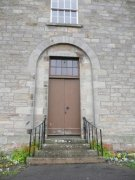 Entrance into the west elevation of Ceres Parish Church. Image: Kirsty Owen (July 2007)  Image ID: s3700_28.JPG