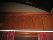 The gallery panelling