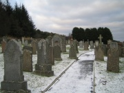 The graveyard from the south-west