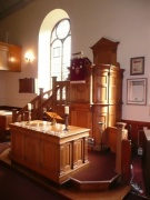 Pulpit and sanctuary from north west