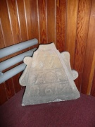 Date stone of previous church