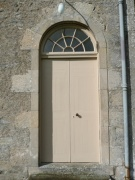 One of entrance doors on south elevation