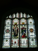 The north stained glass window