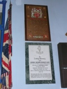 Two of the wall memorials in the church