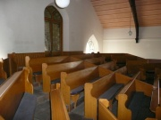 View of the pews in the gallery