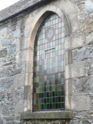 One of the side windows in the nave