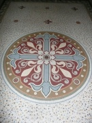 Floor mosaic in chancel