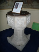 Stone font from east