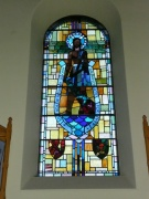 Stained glass window in west elevation