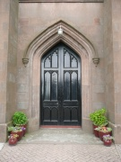 Main entrance into church