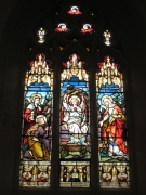 One of the fine stained glass windows