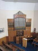 Pipe organ in the sanctuary