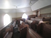 View of the gallery pews