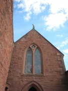 Church gable with window