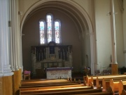 View of the chancel from the west