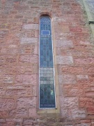 View of one of the windows in the north elevation
