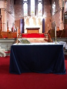 altar in chancel