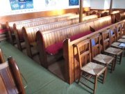 View of the pews
