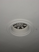 View of the air vent in the ceiling