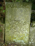 One of the grave slabs