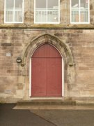South door of Auchtermuchty United Presbyterian Church. Image: Kirsty Owen (June 2007)  Image ID: s4646_03.JPG