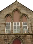 South window of Auchtermuchty United Presbyterian Church. Image: Kirsty Owen (June 2007)  Image ID: s4646_04.JPG